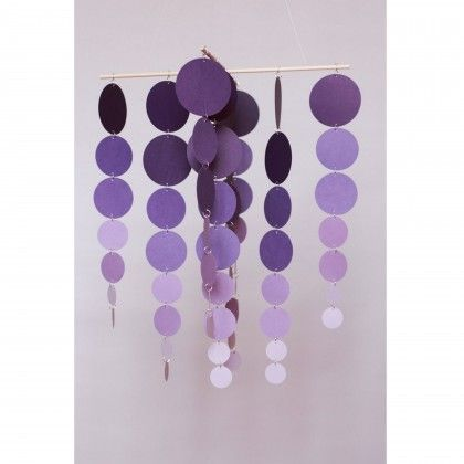 Lavender Nursery Shades of Purple Baby Mobile.  Love the modern take on a baby mobile!