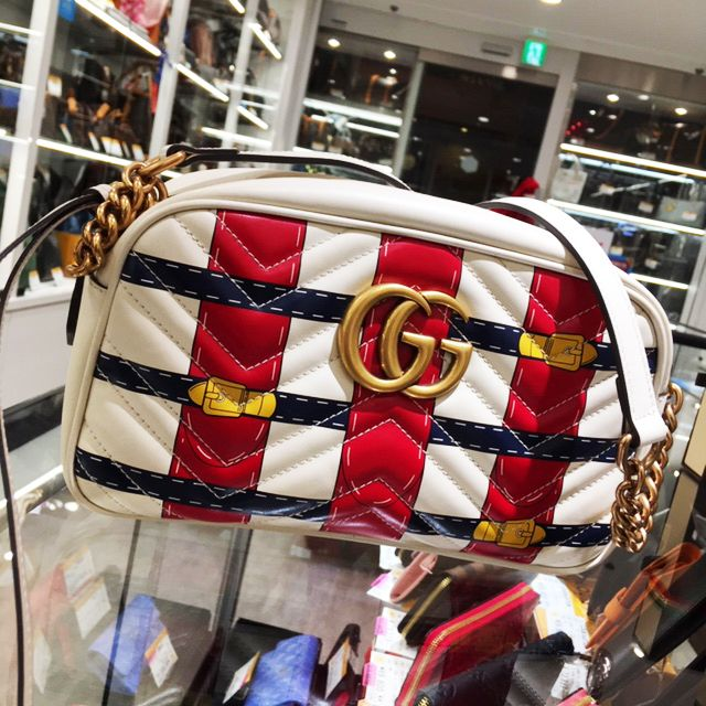 reputable site 42d6e 5a4c8 GUCCI GGマーモント チェーンショルダーバッグ USED美品を ...