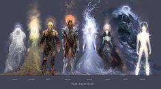 "some of the Valar from Tolkien's ""Silmarillion"""