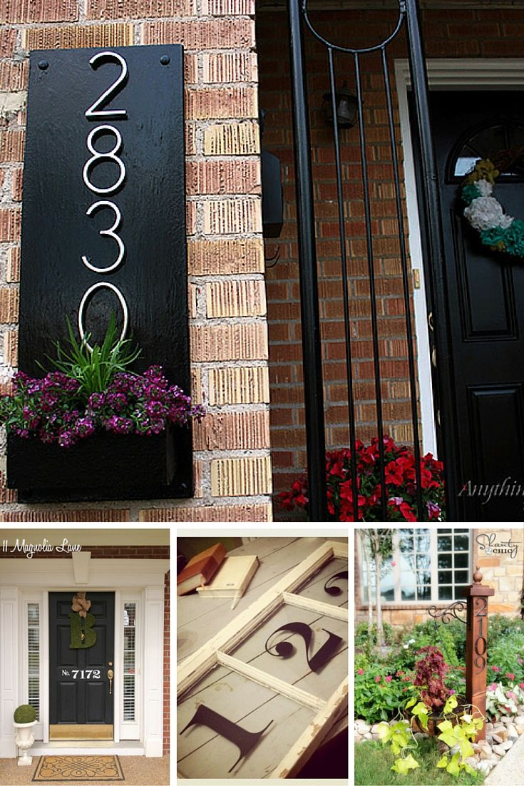 1000+ ideas about ustic House Numbers on Pinterest House Number ... - ^