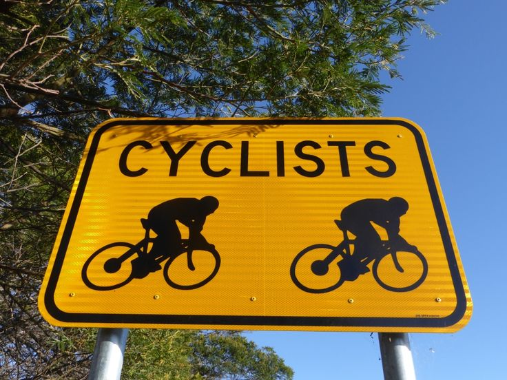 Cyclists about in Tasmania