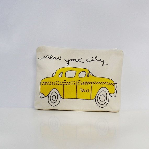 Handmade item appliqued with a New York Taxi classic by Apopsis