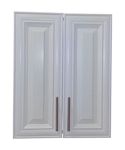 "Wood Cabinets Direct TER-227-WH Terrell 2-Door Recessed Frameless Medicine Cabinet, 27"" x 3.5"", White"