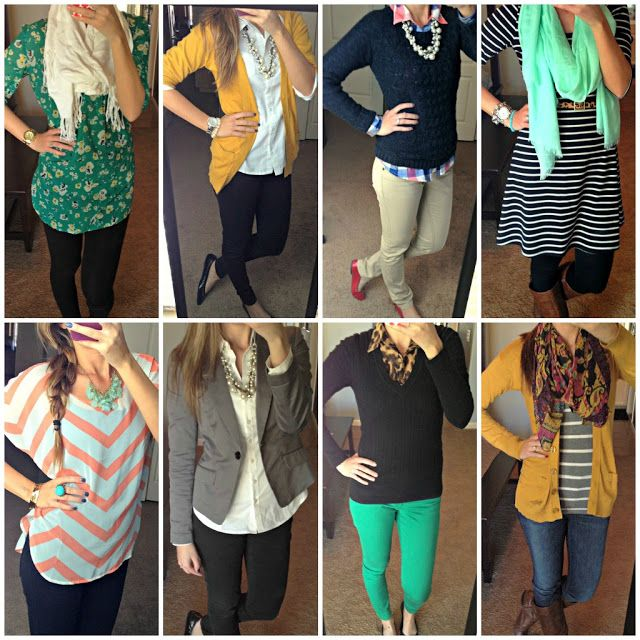 Teacher/Office Wardrobe - Cute blog and she tells you where she buys all her outfits...