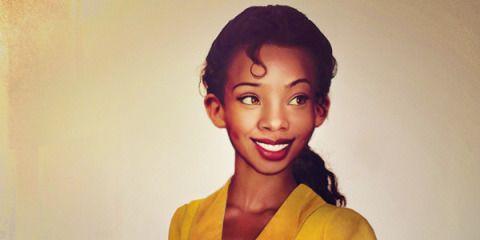 Here's What 11 Disney Princesses Would Look Like in Real Life -Cosmopolitan.com (princess tiana)