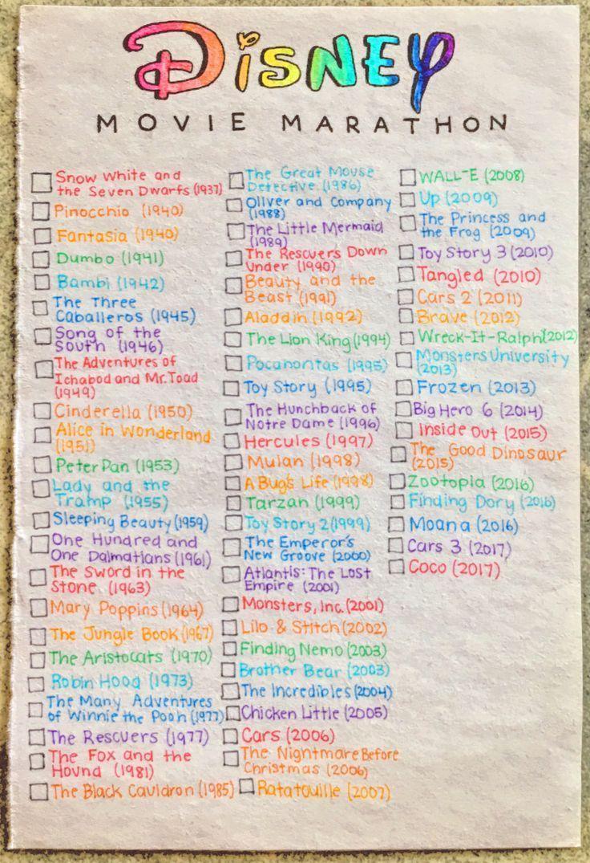 Meine Disney Film Bucket Record! Produziert von: Pinterest // @ reagan – Bullet journals