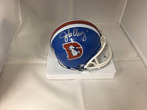 John Elway Signed Autographed Denver Broncos Throwback Mini Helmet Elway Player Hologram:   John Elway Signed Autographed Denver Broncos Mini Helmet Elway Player Hologram. Comes with a Elway personal player hologram for authenticity