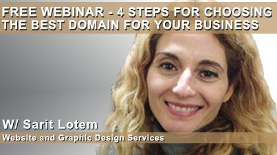 On 1/30 I'm hosting a FREE WEBINAR - 4 Steps for Choosing the Best Domain for Your Business. Click here to save your seat -> http://www.lotemdesign.com/webinar/
