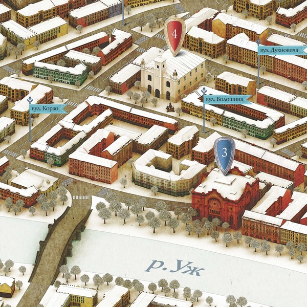 Boryspil. Isometric map: Boryspil Interactive, Isometric Maps, Peter O'Toole, Behance, Interactive Calendar, Inter Acting Calendar, Projects Inspiration, Winter Maps, Peter Storozhenko
