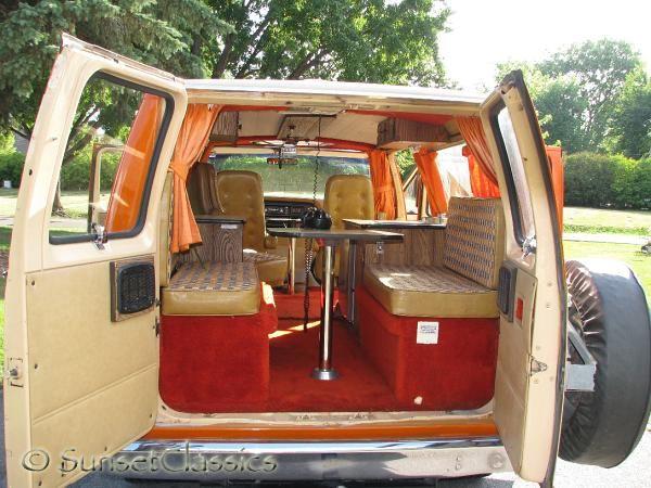 1977 Ford Conversion Van Close Up