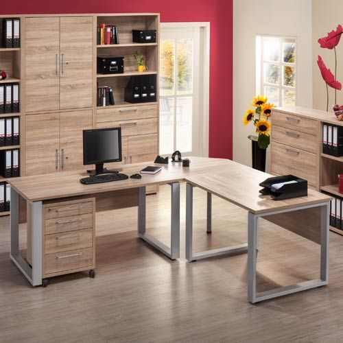 Stunning Maja Contact Office Furniture Collection in light oak finish