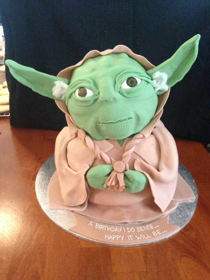 Yoda - Yoda Cake. This is the first Star Wars cake i've ever attempted.