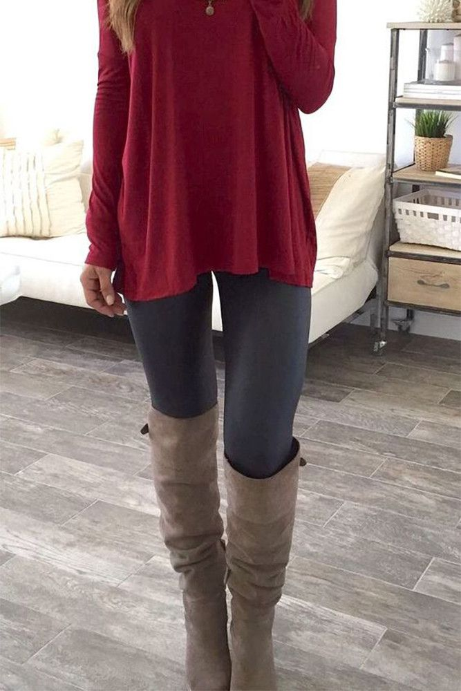 wonderful outfits with fleece leggings boots