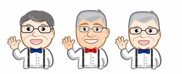 Character  Cartoon  old man  illustration