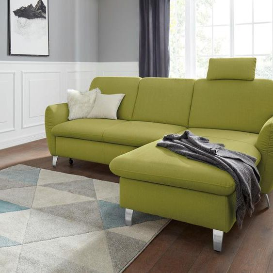 Sit More Eck Sofa Mit Schlaffunktion Grun Stoff Komfortabler Federkern In 2020 Home Decor Couch Sofa