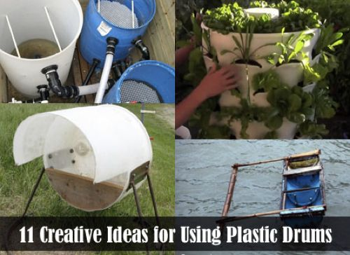 11 Genius Ways To Reuse Large Plastic Drums...http://homestead-and-survival.com/11-genius-ways-to-reuse-large-plastic-drums/