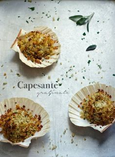 Capesante Gratinate (http://lapanciadellupo.blogspot.com.ar/2016/01/capesante-gratinate.html)