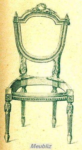 DOSSIER À ÉCUSSON style Louis XVI