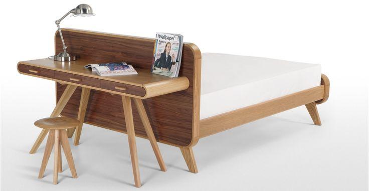 Fonteyn Console Desk in oak and walnut | made.com