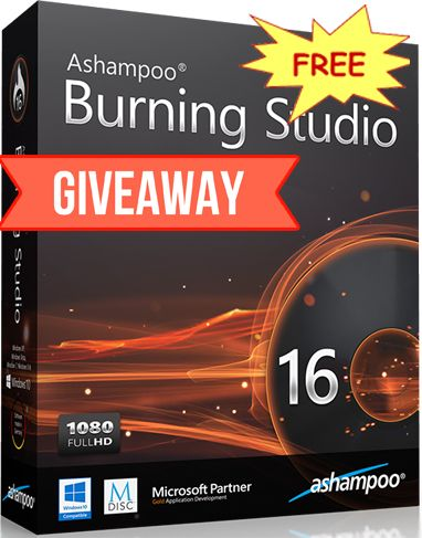 Ashampoo Burning Studio 16  Giveaway