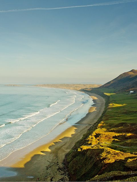 britishvibes: Rhossili Bay, Gower, Wales — FUCKITANDMOVETOBRITAIN