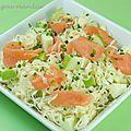 Salade de choucroute crue au saumon fumé