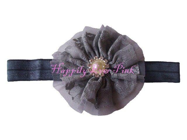 The Lacey Headband-Multiple Colors-Lace headband, stretch headbands, wholesale headbands, pearl headband