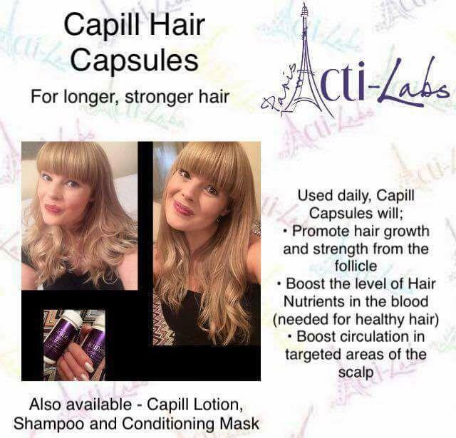 Capill hair capsules #hair #haircare #beauty #actiamber