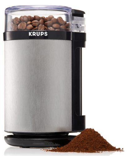 Review of the KRUPS GX4100 Electric Spice Herbs and Coffee Grinder with Stainless Steel Blades and Housing, Grey