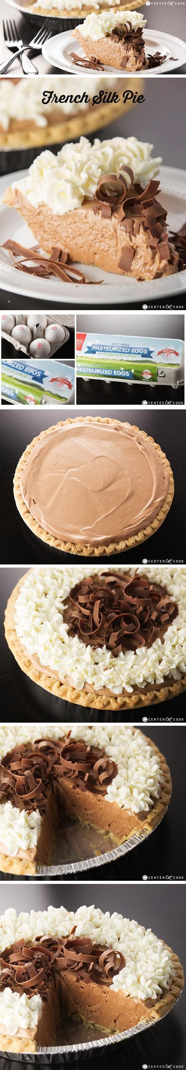 Chocolate lovers, this FRENCH SILK PIE is for you! This easy recipe for French Silk Pie with detailed step by step instructions will wow your friends and family. Chocolate French Silk Pie is the ultimate decadent silky smooth dessert!