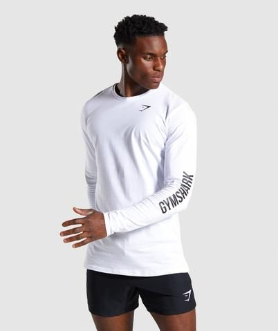 Gymshark Quote Long Sleeve T-shirt – White