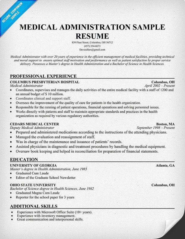 Healthcare Administrator Resume Objective Excel Homework