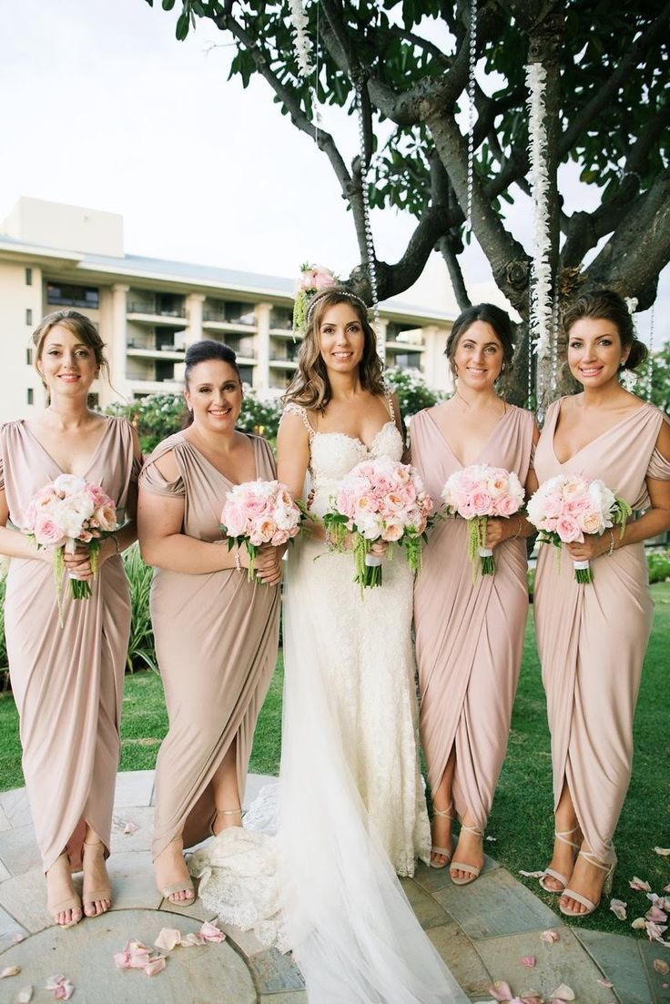 Best 25 latte bridesmaid dresses ideas on pinterest pale darling dionne white runway blog eleni dressed her lovely bridesmaids in our exclusive dionne dresses in latte rosy latte and nude ombrellifo Images