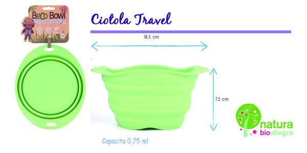 Comoda ciotola in silicona pieghevole, per portare in qualsiasi borsa.