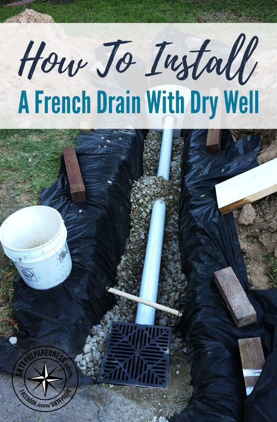 How To Install A French Drain with Dry Well | Dry well ...