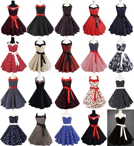 Rockabilly 50er Jahre Kleid Petticoat Polka Dot Leo Pin Up Karneval