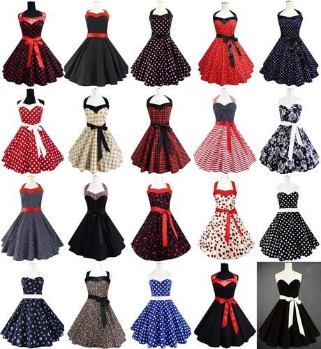 Rockabilly 50er Jahre Kleid Petticoat Polka Dot Leo Pin Up Karneval