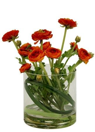 Orange Rananculus (Silk)