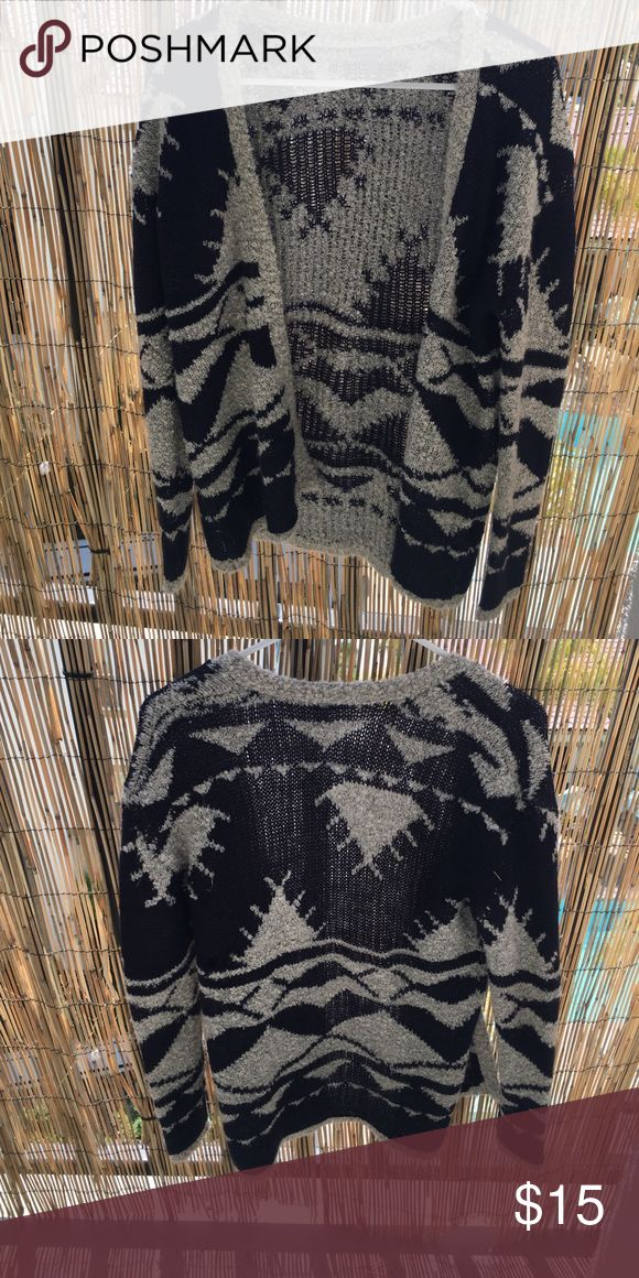 Tribal cardigan Super cute to layer in the winter time Tops