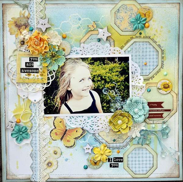 Layout: You Are Awesome *Prima Scraplift Challenge*