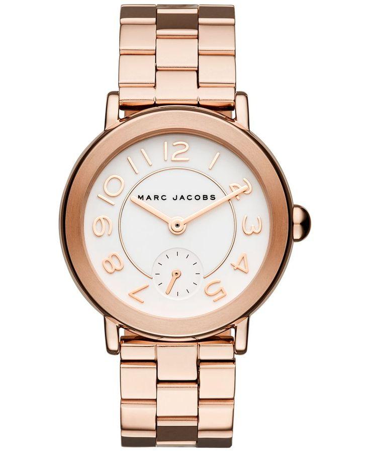 Marc Jacobs Women's Riley Rose Gold-Tone Stainless Steel Bracelet Watch 36mm MJ3471