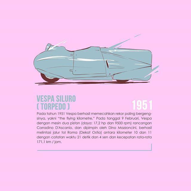 Vespa Siluro (torpedo) . Sumber : vespa.com . . . . . . #vespa #vespasupersprint#cartoon #scooter #illustration #popart #drawing #design #infographic #vespaindonesia #digitalpainting #explorevespa #retro #art #artwork #digitalart #illustrator #mods #vintage #digitaldrawing #gambar #painting #portrait #ilustrasi #dkv #sketch