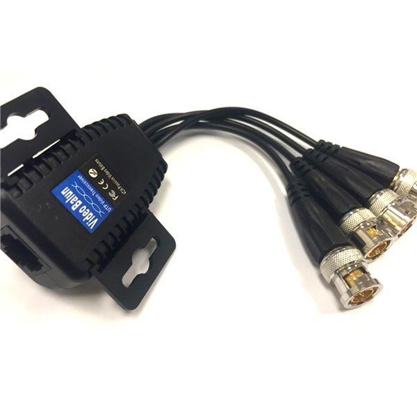 4CH BNC Cámara Video Balun pasivo transceptor para PVT HD extensor de IP
