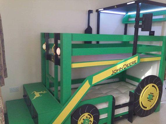 Lit superposé tracteur par bespokebybakerdesign sur Etsy