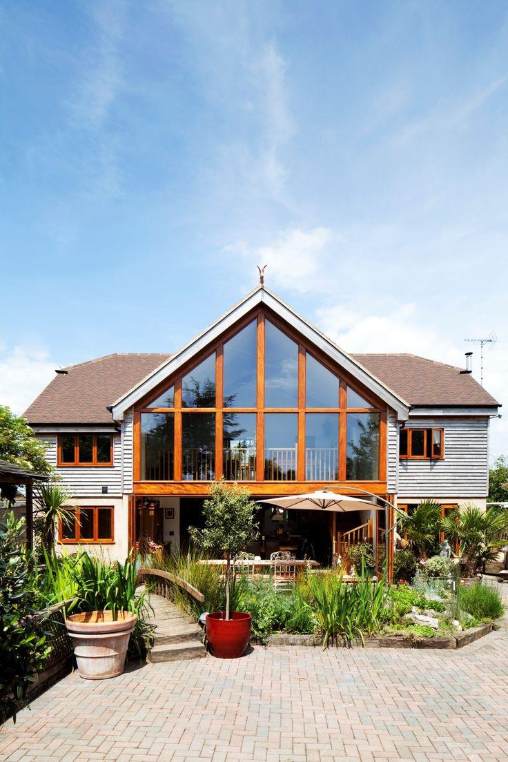 Gable end glazing to rear extension timber cladding bi - Fotos de bungalows de madera ...