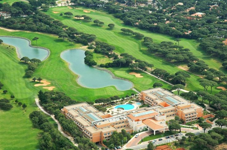 The Hotel Quinta da Marinha golf resort is situated in the Sintra-Cascais Natural Park overlooking the Atlantic Ocean. It has an 18-hole golf course (Robert Trent Jones designed) onsite and full health club and spa.