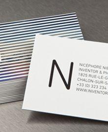 Preview image of Business Card design 'Nicéphore Niépce'  Moo.com