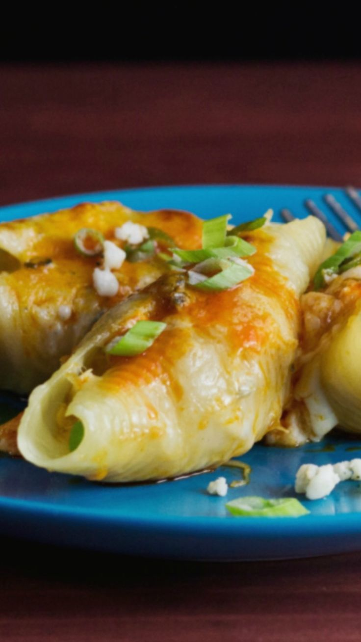 Kick your stuffed pasta shells up a notch with spicy chicken and melty cheese   Buffalo Chicken Stuffed Shells