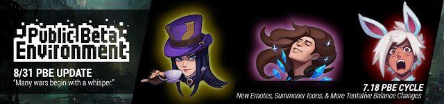 cool 8/31 PBE Update: New Emotes, Summoner Icons, & More Tentative Balance Changes