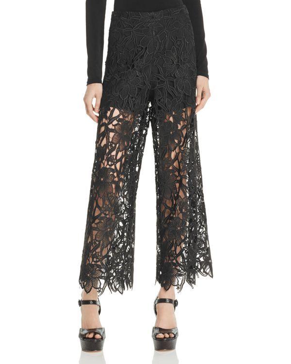 Alice + Olivia Olsen Sheer Lace Pants